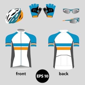 Conjunto de roupas de bicicleta ou bicicleta