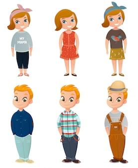 Conjunto de roupas de crianças