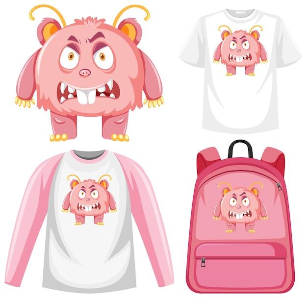 Conjunto de roupas de expressão facial de monstro simulado