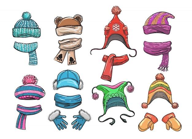Conjunto de roupas de inverno para crianças