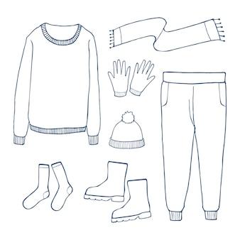 Conjunto de roupas de inverno
