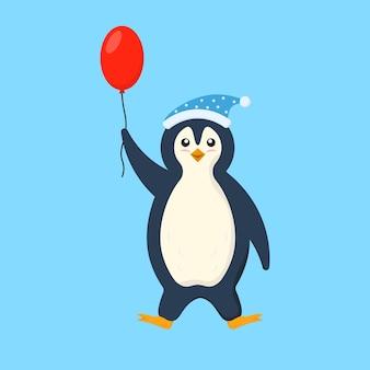 Conjunto de roupas de pinguins em plano fofinho personagens de desenho animado inverno antártico pássaro animal