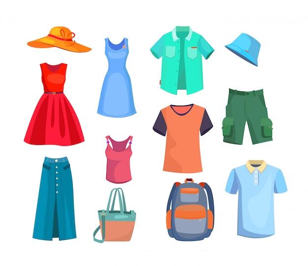 Conjunto de roupas de verão