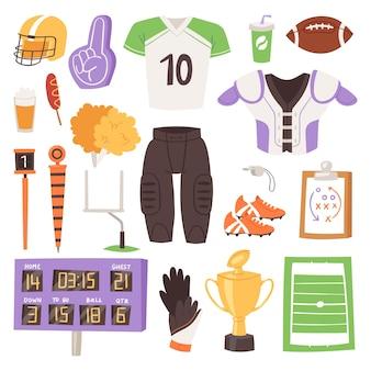 Conjunto de roupas esportivas de rúgbi