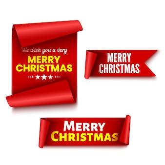 Conjunto de s de natal vermelho. fitas. adesivos.
