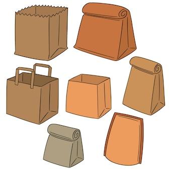 Conjunto de saco de papel