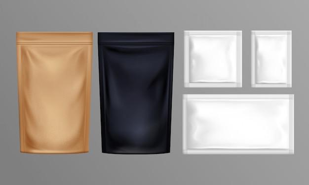 Conjunto de sacos de papel de folha de bolsa