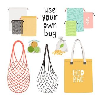 Conjunto de sacos ecológicos