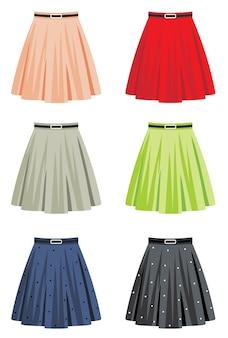 Conjunto de saias diferentes