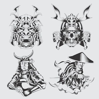 Conjunto de samurai
