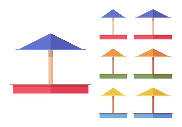 Conjunto de sandbox para crianças