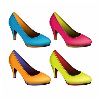 Conjunto de sapatos femininos