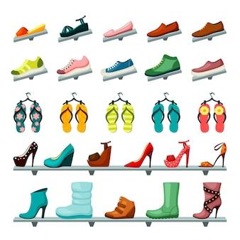 Conjunto de sapatos unissex feminino feminino