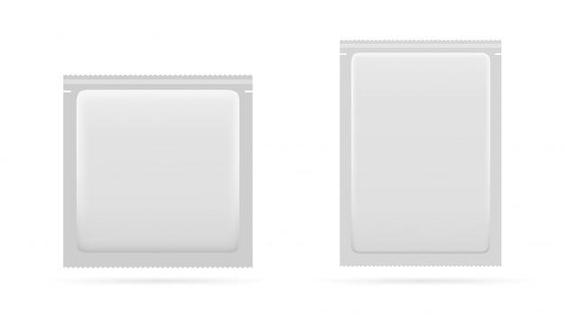 Conjunto de saquinho em branco para alimentos, medicamentos ou cosméticos