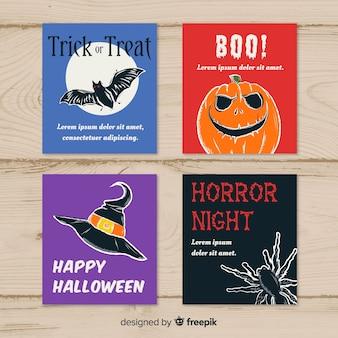 Conjunto de saudação de Halloween