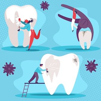 Conjunto de saúde dental