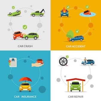Conjunto de seguro de carro