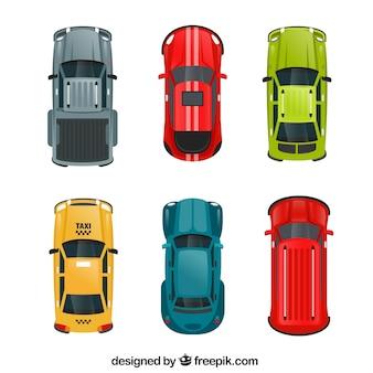 Conjunto de seis carros diferentes