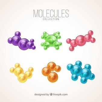 Conjunto de seis estruturas moleculares