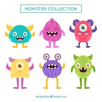 Conjunto de seis monstros