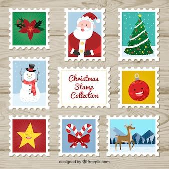 Conjunto de selo de natal