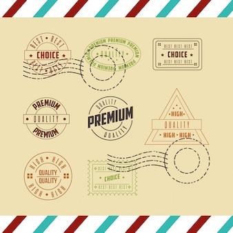 Conjunto de selo de qualidade premium