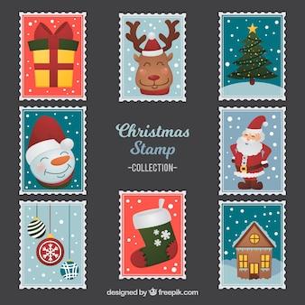 Conjunto de selos de natal