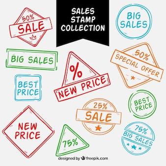 Conjunto de selos de ofertas
