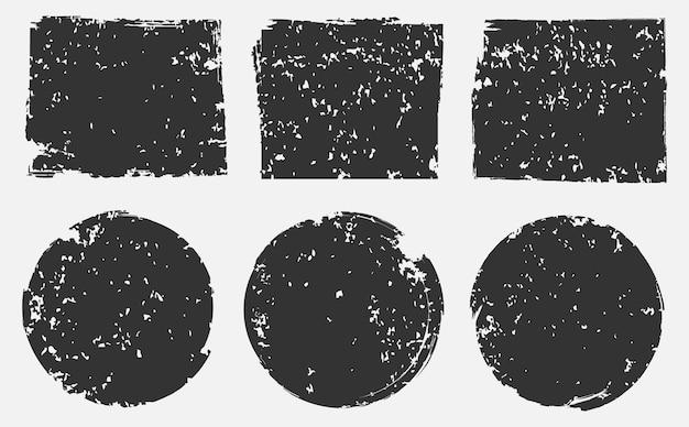Conjunto de selos grunge