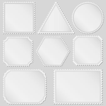 Conjunto de selos postais