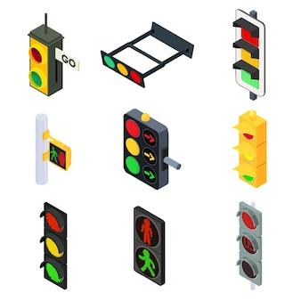 Conjunto de semáforos, estilo isométrico