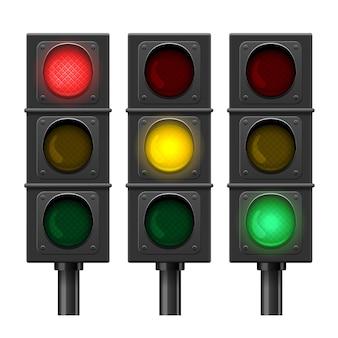 Conjunto de semáforos isolado