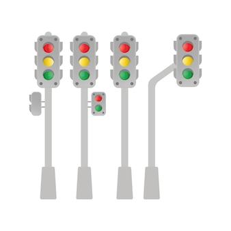 Conjunto de semáforos leves.
