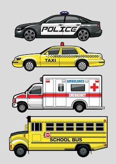 Conjunto de séries de carros