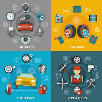 Conjunto de serviço de pneus 2x2