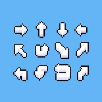 Conjunto de setas de pixel art