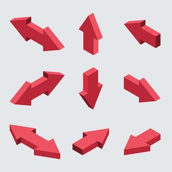 Conjunto de setas isométricas