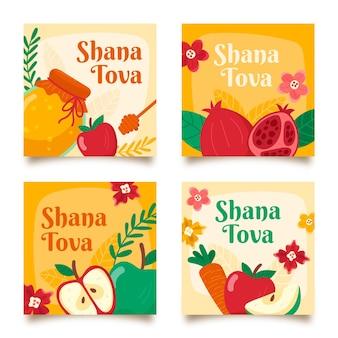 Conjunto de shana tova cartões