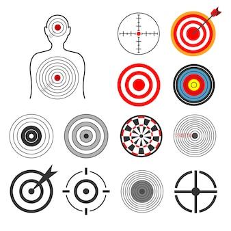 Conjunto de silhuetas de alvo de tiro