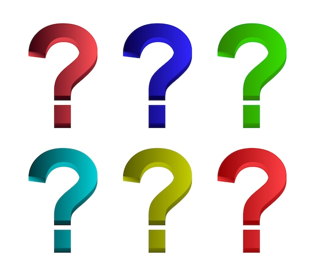 Conjunto de símbolo de ponto de interrogação
