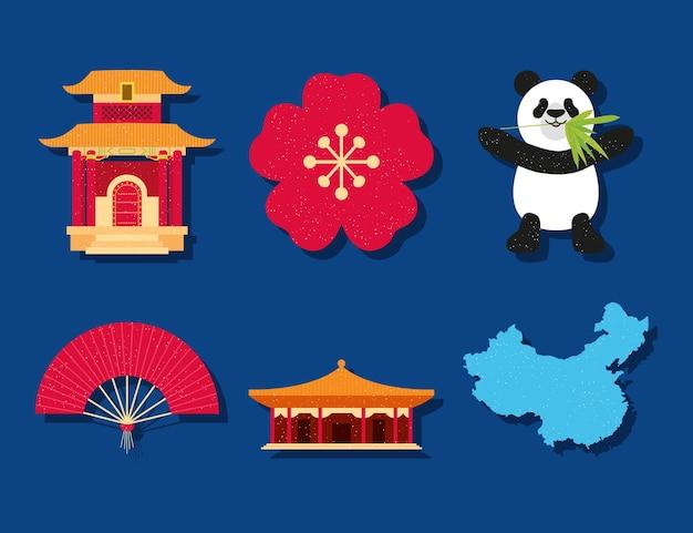 Conjunto de símbolos chineses