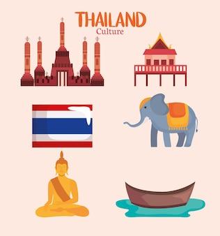 Conjunto de símbolos da tailândia