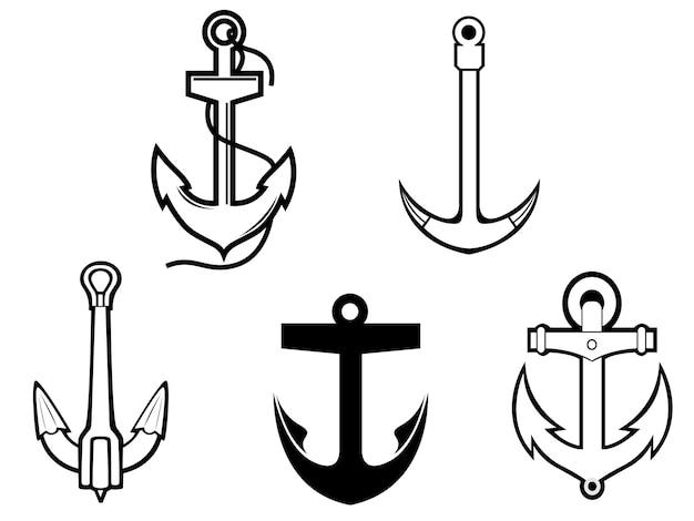 Conjunto de símbolos de âncora