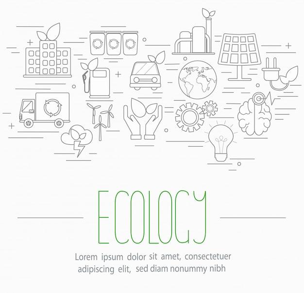 Conjunto de símbolos de ecologia