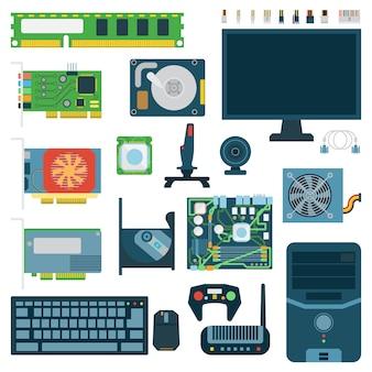Conjunto de símbolos do computador.