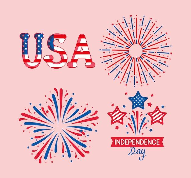 Conjunto de símbolos do dia da independência