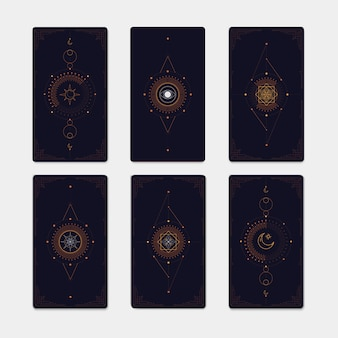 Conjunto de símbolos místicos geométricos