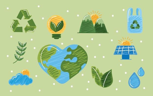 Conjunto de símbolos sustentáveis
