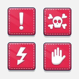 Conjunto de sinais de alerta de atenção
