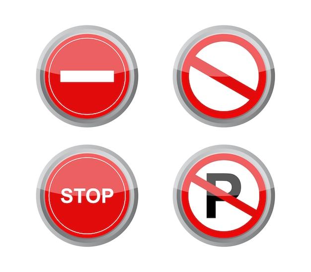 Conjunto de sinais de proibição